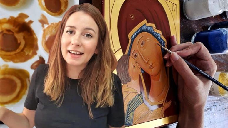Pinta un icono bizantino desde cero: el icono de la Madre de Dios taught by Débora Martínez Muñoz